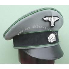 Waffen-SS Polizei Div/ SD Officers Crusher Cap