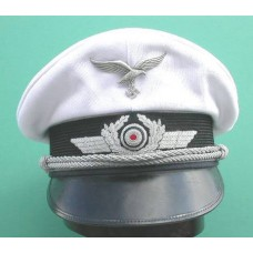 Luftwaffe Officers Peaked Cap with White Top