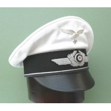 Luftwaffe Officers Crusher Cap with White Top