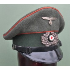 Army Feldgendarmerie other ranks peaked cap (Used).