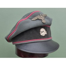 W-SS Panzer Officers Crusher Cap (Used).