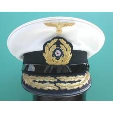Kriegsmarine Admirals White Top Peaked Cap.